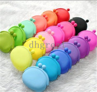 Wholesale 2014 Colourful Silicone Coin Purse Lovely Coin Bag Silicone Money Bag Pouch Puse Style Coin Wallet case
