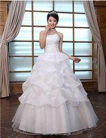 A-Line wedding gowns - New Arrival A Line Satin Floor Length Bridal Wedding Dress Wedding Gown G0005