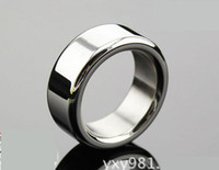 Wholesale New Men Stainless Steel Cock Ring Adult Chastity BDSM Fetish delayed gonobolia Bondage Toy Male Penis Chastity Ring Size A048