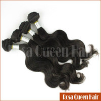 Wholesale 4pc Guangzhou Rosa Weave Human Hair Weft Natural A Best Quality Loose Wave Indian Virgin hair Extension dandys