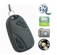 Wholesale MINI SPY CAR KEY HIDDEN CAMERA KeyChain Digital CAM Chain DV DVR WebCam Camcorder Video Recorder S5 S6