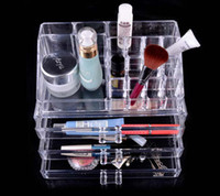 Wholesale One Set New Fashion Clear Acrylic Cosmetic Box Jewellery Makeup Organizer Case