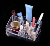 Wholesale EMS New Fashion Clear Acrylic Cosmetic Box Jewellery Makeup Organizer Case