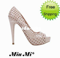 Wholesale Womans fashion cut outs high heels shoes peep toe dress shoe and retail