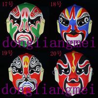 EVA Halloween masks china opera - 200pc Flock printing colored drawing mask props beijing opera mask China Style H50