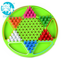 Wholesale Wooden toy child puzzle desktop disk painting line hexagonal flight chess checkers