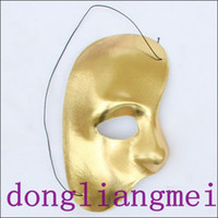 Wholesale 60pc Party mask half face mask Phantom of the Opera right half of the face cloth mask H53