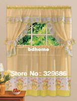 Wholesale curtain fabric Fashion Print Kitchen Curtain Coffee Curtain Set Elegant Curtain Of a Variety Of Utility Household Curtain