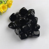Wholesale Black obsidian Tumbled Stones Beads Points Crystal Healing Reiki Polished Free pouch
