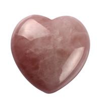 1.8 pouces en quartz rose naturel Forme du coeur Chakra en cristal de roche rose Amant gife pierre sculptée guérison livre livre poubelle