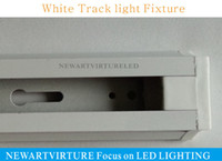 led track lighting - LED Track lighting Fixture AC85v v Tracklights Black White Led Track light Spotlight Fixture connector Warranty years