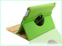 Wholesale Case for ipad degree Rotating PU Leather Cover Case for apple IPAD smart stand