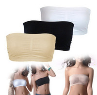 Women Corset & Bustier Valentine's Day Sexy Women Ladies Strapless Boob Tube Top Padded Full Cup Bandeau Bra Underwear 3 Colors As on TV