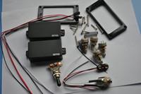 al por mayor electric pickup-1 set EMG 81 / 85 fonocaptores Humbucker Pickup guitarra eléctrica activa de potencia con 4 pcs 25K potenciales