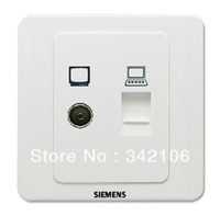Cheap Free Shipping!!! TV cable network cable computer information outlet socket Vision elegant white