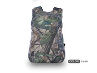 Wholesale JUNGLE MAN TACTICAL PAINTBALL OUTDOOR BIONIC REAL TREE CAMO FOLDABLE BAG BACKPACK T190