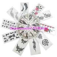 Ankle/Foot rose tattoos - 10pcs Temporary Tattoo Stickers Body Art Painting Beauty Makeup Rose Totem Butterfly Cat Star Feather Wing Dragon Waterproof HT Hot1