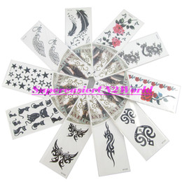 Wholesale 10pcs Temporary Tattoo Stickers Body Art Painting Beauty Makeup Rose Totem Butterfly Cat Star Feather Wing Dragon Waterproof HT Hot1