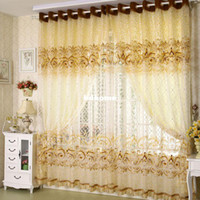 Wholesale home window for curtain decoration Burnt tulle m bedroom curtains living room curtains for window