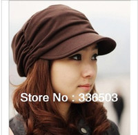 Wholesale 1 New Korean autumn and winter cotton knitted hats fashionable men and women fold fashion caps multi color