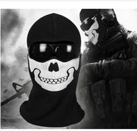 Costume Accessories call of duty ghost - New High Quality Replica Windproof Airsoft Ghost Ski Full Face Mask For Call of duty MW2 ghost mask hood cosplay skull face mask ch001