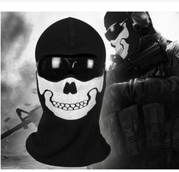 Wholesale New High Quality Replica Windproof Airsoft Ghost Ski Full Face Mask For Call of duty MW2 ghost mask hood cosplay skull face mask ch001