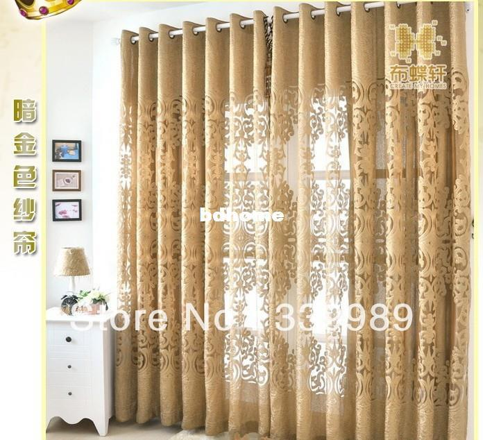 2017 100 polyester jacquard curtain design window for Hotel drapes for sale