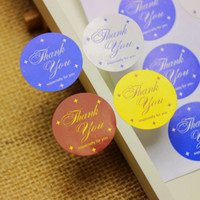Wholesale Four color Thank You Stickers Seal Label Sticker cm