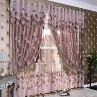 Wholesale new blinds quality jacquard window curtain tulle fabric home decor curtains for living room cortinas drapes for bedroom