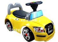 Wholesale Child shilly car scooter ride on toys with music and light musical car walker large size high quality PP material