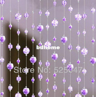 beads for doorways - Acrylic bead curtain Fashion curtains for doorway living room imitation crystal curtain