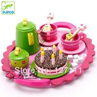 Wholesale High quality Mother garden children kitchen toys set strawberry tea set wooden toy best children gift