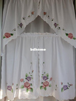 Wholesale Finished product kitchen curtain curtains semi shade