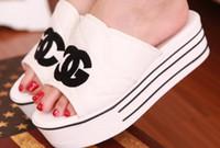 Wholesale 2014 summer bright sequins women sandals flats slippers canvas platform shoes Flip flops New fashion