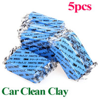 Brush Sponges, Cloths & Brushes Blue 5Pcs set Free Shipping Magic Car Truck Auto Vehicle Bar Clean Clay 180g Cleaning Soap Detailing Cleaner