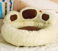 Wholesale New Fashion Paw Shape Pet Dog Cat Bed House Nest Warmer Soft Beds Sleep Plush Luxury House Gift