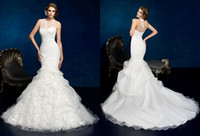2014Elegant Noble Mermaid Trumpet Wedding Dresses High Neck ...