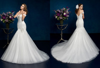 2014 Attractive Noble Mermaid Trumpet Wedding Dresses Off- th...
