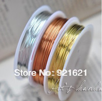 Other Jewelry Findings Metal Free Shipping 0.2 50M Roll 3Pcs lot Mixed Color Copper Wires Beading Wire DIY Jewelry Findings Brass Ropes Cords D0279