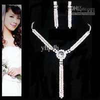 Wholesale Hot Sale Bridal Jewelry Set Necklace amp Earrings Wedding Accessories Jewelry Sets Retail JS18