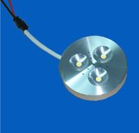 al por mayor luces de muebles 12v-Envío gratis , 12V DC 3W LED Puck, la luz led puck de la lámpara del led, muebles de la luz