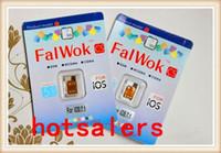 Wholesale UNLOCK WARRNTY ORIRIGINAL Falwok CS unlock card for IOS iOS X Falwok CS unlock sim card IOS7 for iphone S C ATT T M SB TEC