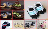 Unisex barefoot shoes - Hot Hand woven crochet sandals of the veil Baby soft bottom toddler shoes Neonatal barefoot sandals sale pair