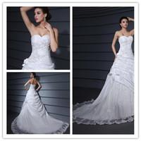 Wholesale Sweetheart Neckline Applique Court A Line Wedding Dress evening dress bridesmaid dress