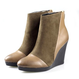 Wholesale After temperament high heeled shoe repair trade new lightweight and comfortable boots Martin boots slope with waterproof zipper boots women