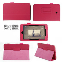Wholesale Folio PU Leather Cover Case with Stand Litchi Pattern For Dell Venue