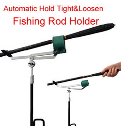 Wholesale Automatic Hold Tight Loosen Design Adjustable Fishing Rod Pole Bracket Practical Fish Rod Stand Holder
