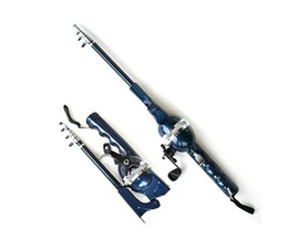 Free Shipping Sea Fishing Rod Convenient Integration Portable Fold Fishing Pole Includeing Fishing Reel