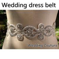 Wholesale 2014 New Style Crystal Rhinestone Sparkle Wedding Dress Belt Jewelry Prom Party Dress Sash Jewelry