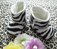 Winter Snow Boots Mid-Calf Retail Baby First Walker boot Shoes infant prewalker snow boots kids Anti slip ugg boot Newborn baby warm shoes Children Zebra Leopard boots